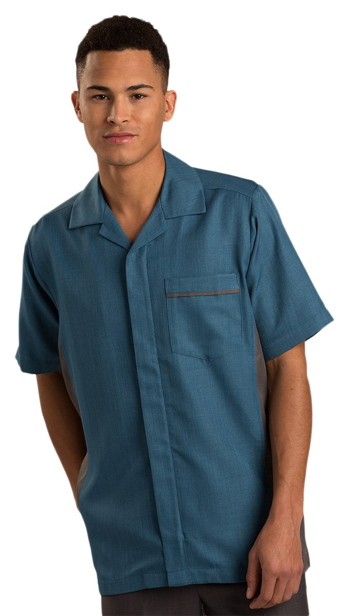 Ed Garment Men'S Short Sleeve Service Shirt, Imperial Blue, XX-Large