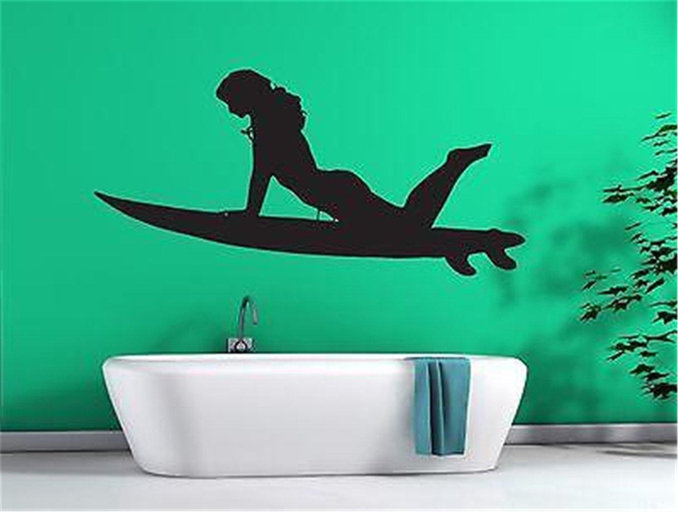pegatinas de pared tortugas ninja Sexy Girl Surfer en tabla ...