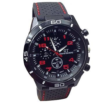 yistu Hombres Reloj, fresco reloj de pulsera de deporte unisex Militar Relojes, Unisex, rojo: Amazon.es: Deportes y aire libre