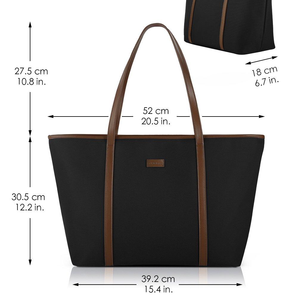 Blau und Braun CHICECO Nylon Gro/ß Reise Shopper Tasche Handtasche Damen