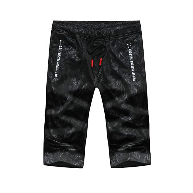 FuweiEncore Pantalones Bermudas de Camuflaje para Hombre Pantalones Cortos  Sport de Verano Negro  Amazon.es  Ropa y accesorios 0687dfa949cf