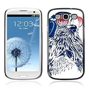 Designer Depo Hard Protection Case for Samsung Galaxy S3 / DJ Owl