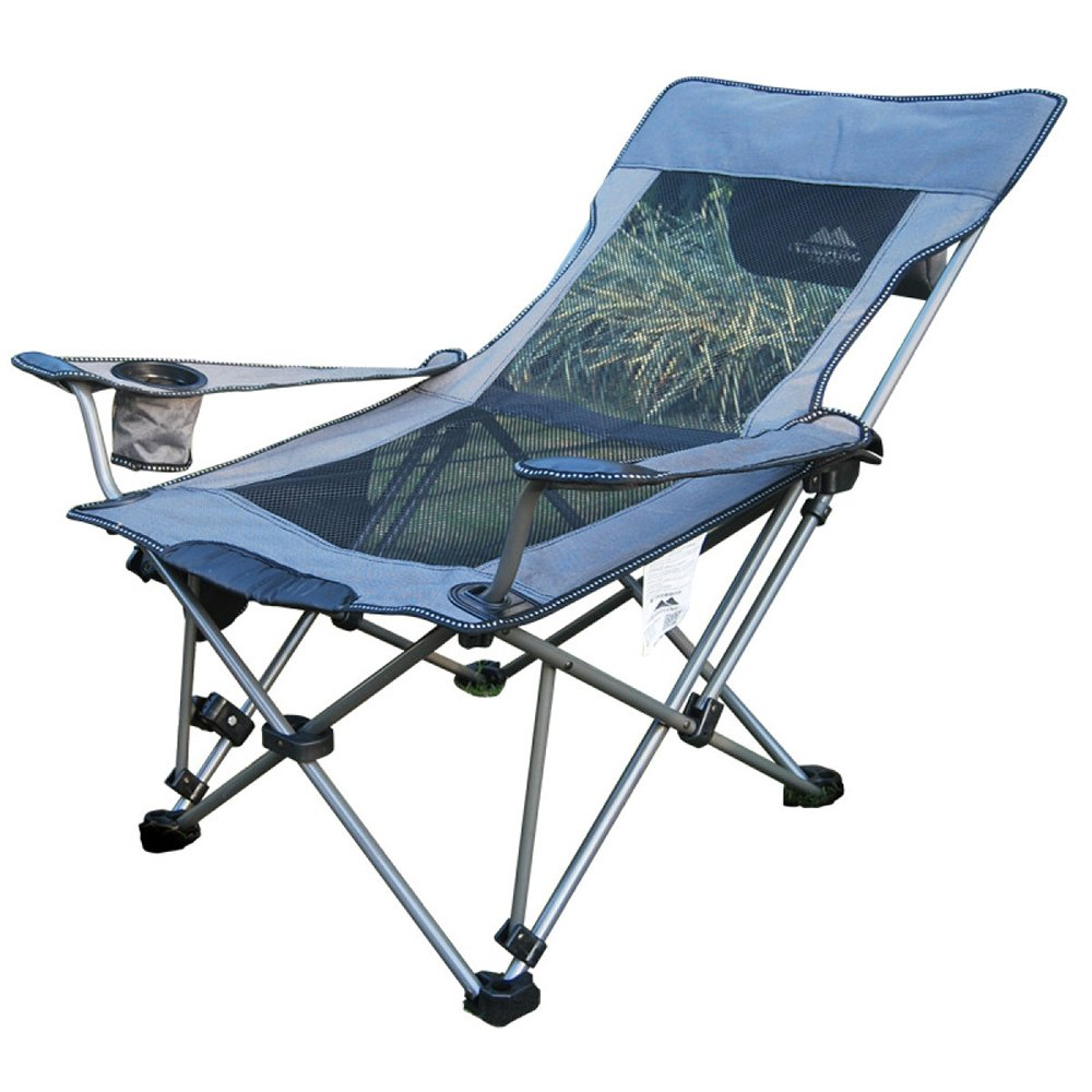 ANHPI Portable Chaise Pliante Chaise Extérieure Tabouret Camping Chaise De Plage Chaise De Pêche Chaise Longue Soleil Camping Plage Chaise,gris gris -