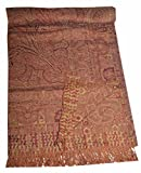 Pashmina Blanket Throw Reversible India Bedding King SL877