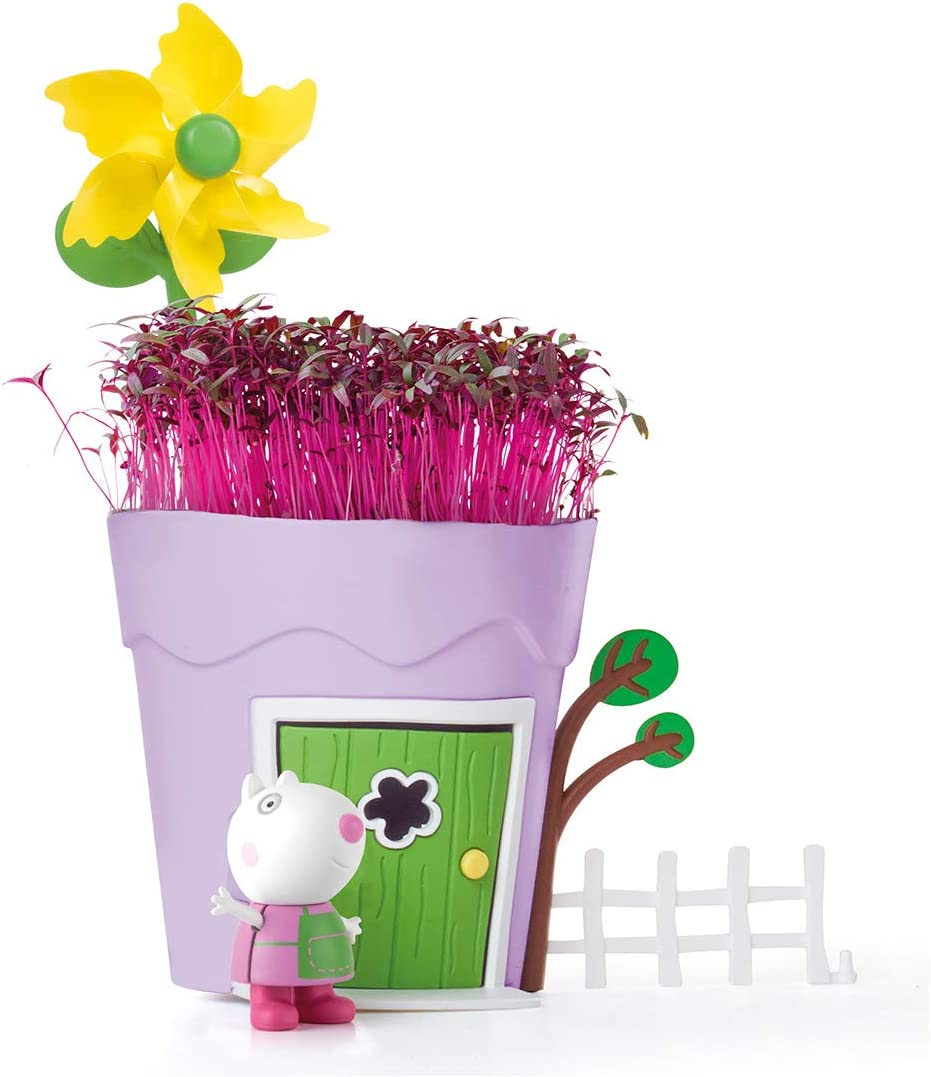 Peppa Pig PP104 Grow & Play Peppa Pots – Suzy Sheep Kids Animal & Insectos Hábitat Kits, Multi
