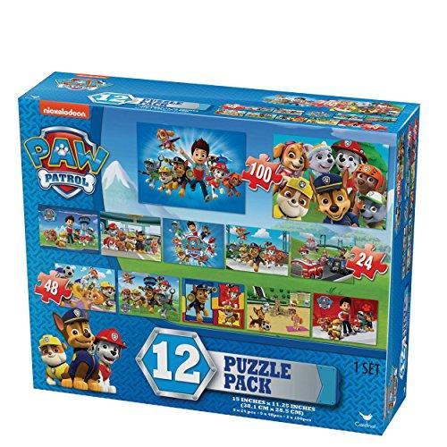 Nickelodeon Paw Patrol Kids 12 Puzzle Pack (24 Pieces)