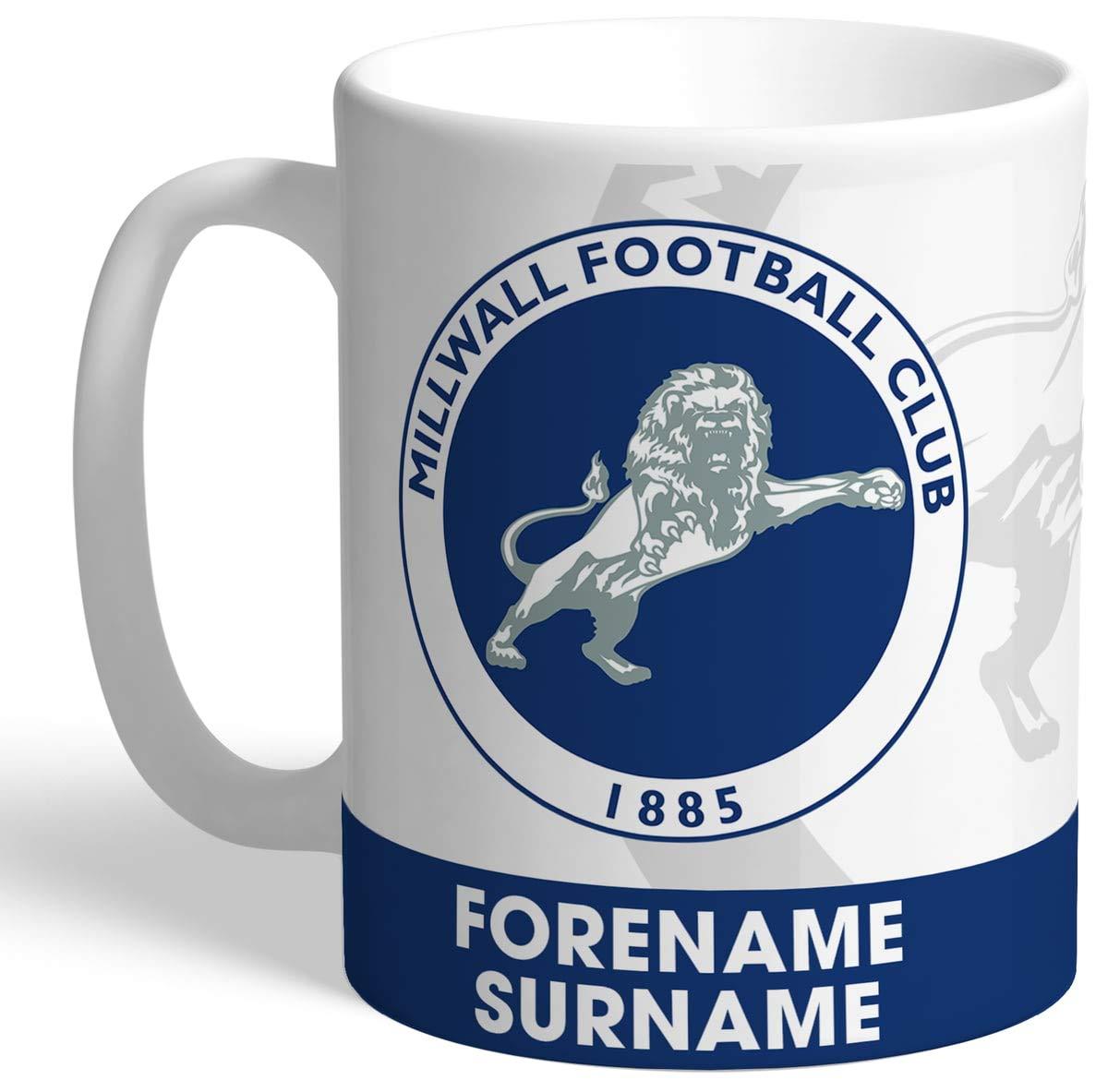 Millwall F.C EAT, SLEEP, DRINK Personalised Ceramic Mug