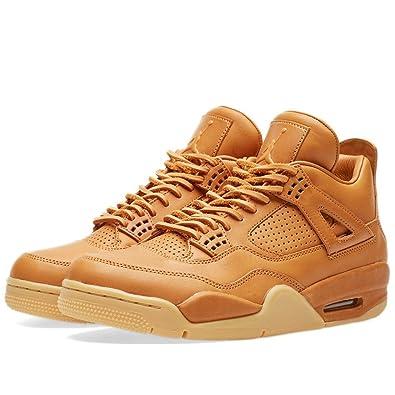 295ae5101f3b Nike Mens Air Jordan 4 Retro Premium Ginger Gum Yellow Leather Size 8.5