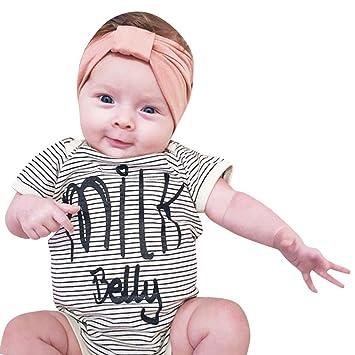 6bb675421f42 Amazon.com  SMTSMT 2017 Baby Kids Boys Girls Letter Print Romper Jumpsuit  Outfits (12-18M
