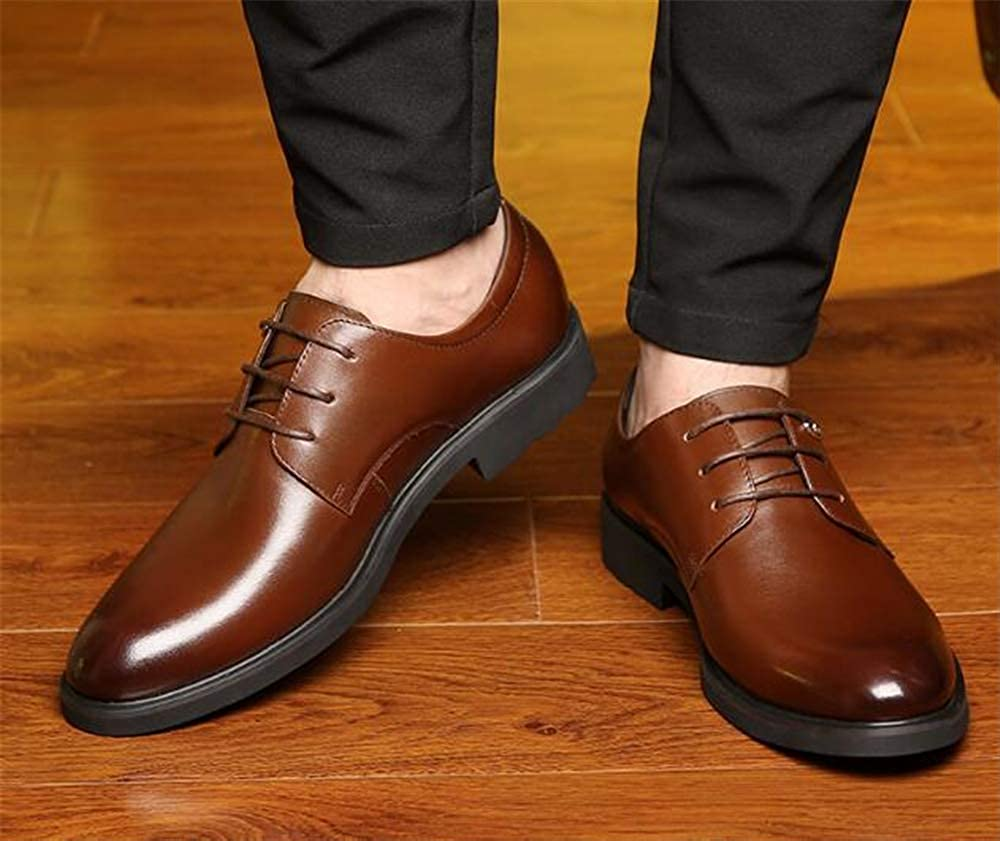 Mens Cap Toe Oxford Leather Lace Up Classic Comfortable Modern Formal Business Dress Shoes for Men