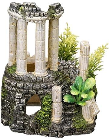 Nobby Decoración para Acuario, diseño de columnas Antiguas con Plantas, 11,2 x