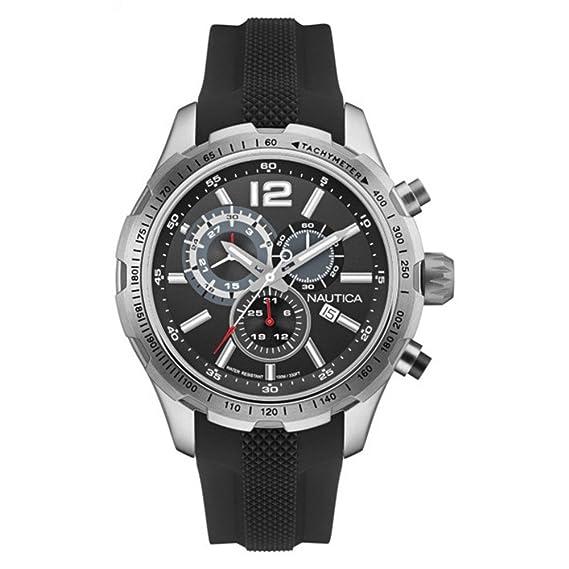 3f9cc61e5271 Nautica Reloj Analógico de Cuarzo para Hombre con Correa de Silicona -  NAI15512G  Amazon.es  Relojes