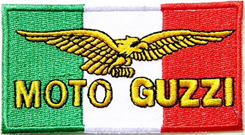 MOTO GUZZI Logo Sign Mortorcycle Lady Rider Racing Biker Patch Iron on Applique Embroidered T shirt Jacket Gift BY SURAPAN
