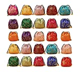 30Pcs Chinese Silk Brocade Embroidered Drawstring