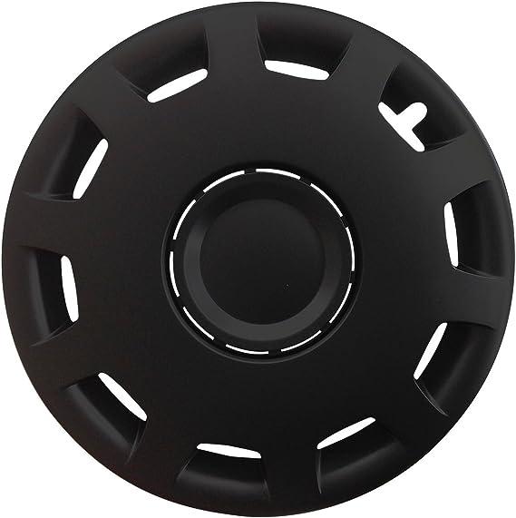 Autoteppich Stylers Farbe Größe Wählbar 16 Zoll Radkappen Granit Schwarz Passend Für Fast Alle Gängingen Fahrzeuge Universal Auto