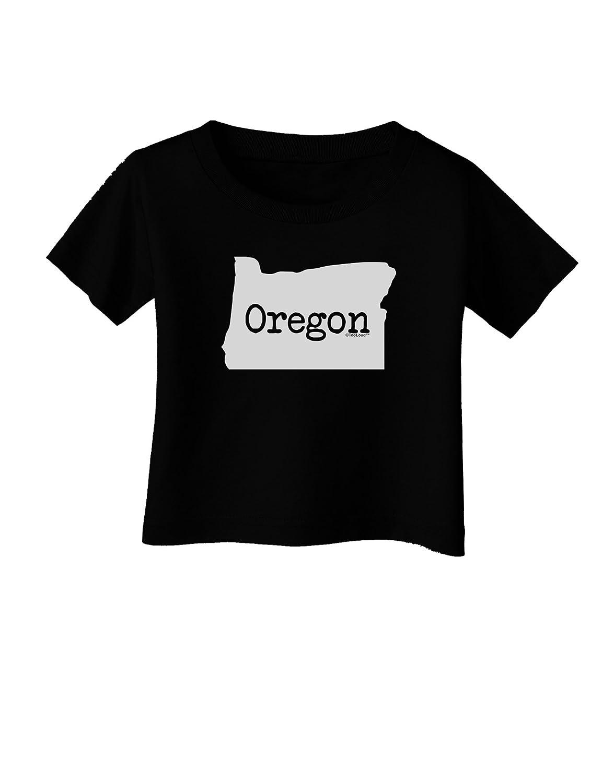 TooLoud Oregon United States Shape Infant T-Shirt Dark