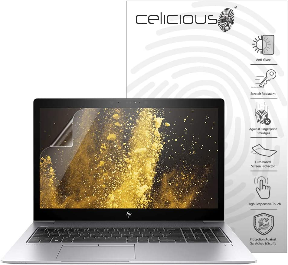 Celicious Matte Anti-Glare Screen Protector Film Compatible with HP EliteBook 850 G5 (Non-Touch) [Pack of 2]