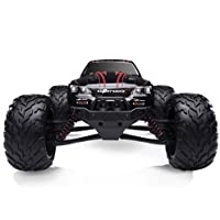 Hosim High Speed RC Off-Road Car 9112, 38km/h 1/12 Scale Radio Controlled Electric All Terrain Car - 2.4Ghz 2WD Remote Control Monster Truck -  Both Kids and Adults (Red)