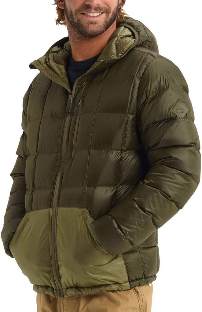 Burton Evergreen Hooded Down Insulator Chaqueta Funcional Hombre Green-Blue Slate