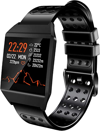 Smart Watch Compatible with iPhone and Android Phones, IP67 Waterproof, Ultra-Long Battery Life, Fitness Tracker Watch with Pedometer Heart Rate ...
