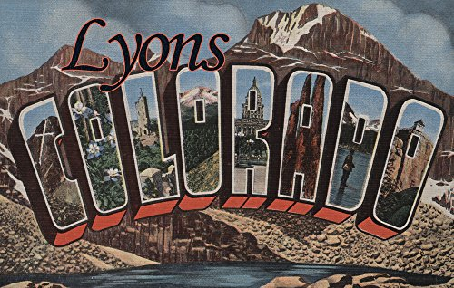 Lyons, Colorado - Large Letter Scenes (12x18 Art Print, Wall Decor Travel (Lyon Framed)