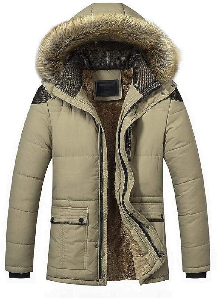 Abrigo de Invierno Europeo y Americano para Hombre con Forro de Terciopelo cálido de algodón para Hombre