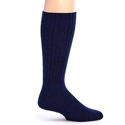 Warrior Alpaca Socks - Men's Ribbed Everyday Alpaca Wool Crew Socks at Men's Clothing store