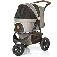 TOGfit Pet Roadster - Luxury Pet Stroller for Puppy, Senior Dog or Cat   Easy Foldable Three Wheels Travel Pet Jogger max. Loading 70 lb, Mattress Included - Gray