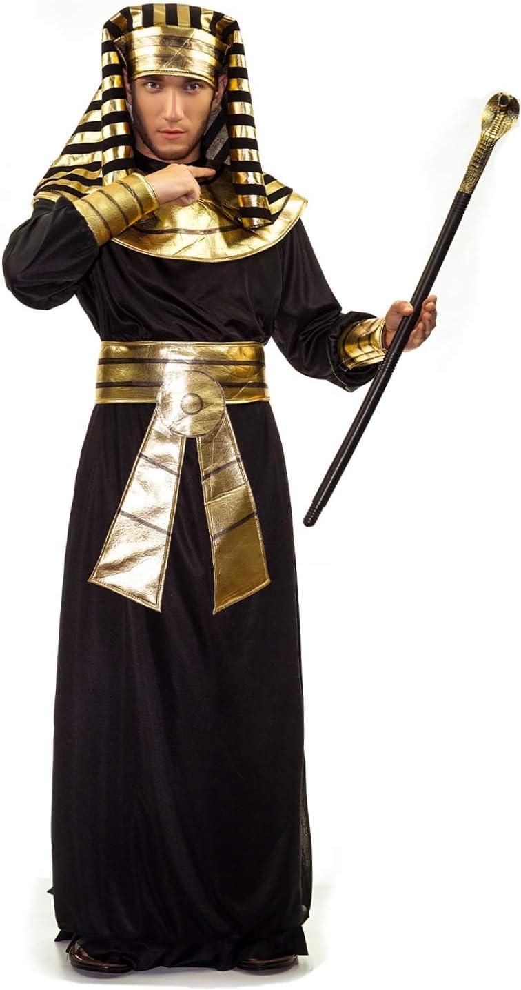 SEA HARE Disfraz de Faraón Egipcio para Hombre (Negro): Amazon.es ...