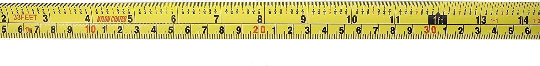 professionelles Messen mit magnetischem Haken strapazierf/ähig an der Vorderseite Finder 10 m Ma/ßband Zoll//cm metrisch und stabil schnell lesbar extra lang einziehbar