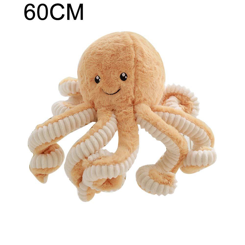 MerotithJo36 Plüsch-Puppe mit Oktopus für Kinder, Freundin, Geburtstagsgeschenk, Heimdekoration Orange 60 cm