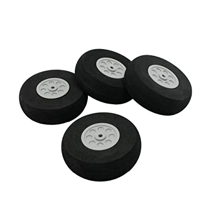 Rueda de avion - SODIAL(R) Reemplazo rueda de espuma de 75 mm diametro