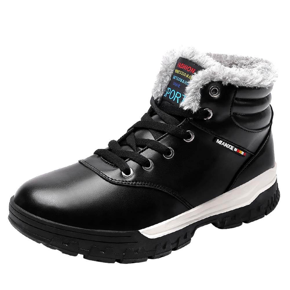 Maizun Large Size Snow Boots for Men Non-Slip Waterproof and Velvet Warm Snow Work Boots