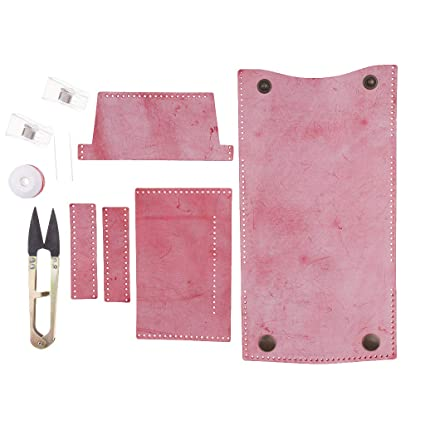 perfk DIY de Piel 4 Bolsillos Mini Cartera Kit Monedero ...