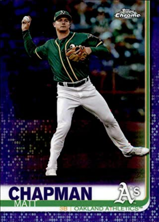2018 Topps Chrome Purple Refractor//299 #190 Matt Chapman Oakland Athletics Card