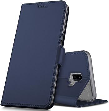 GeeMai Coque pour Samsung Galaxy J6 Plus, Flip Coque Premium PU ...