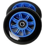 Amazon.com: aowish Flash Scooter ruedas 120 mm. (par) con ...