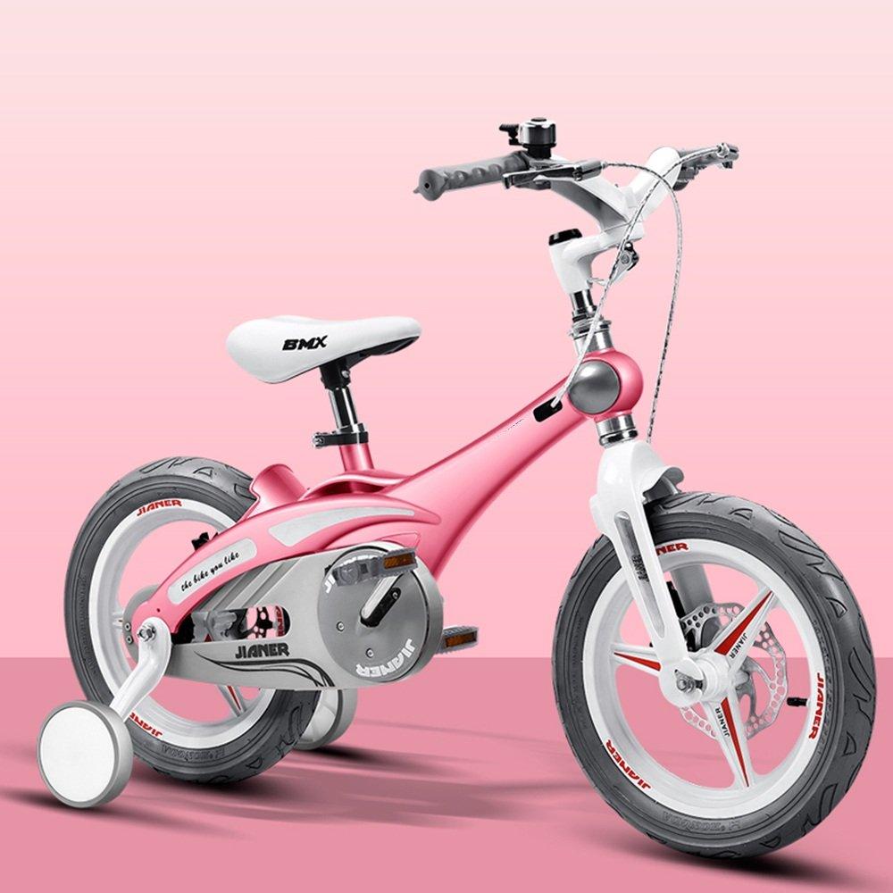 YANGFEI 子ども用自転車 12インチの子供の自転車女子の少年赤ちゃんのバイク2-5歳の自転車ベビーカーの自転車 212歳 B07DWTX68N ピンク ぴんく ピンク ぴんく