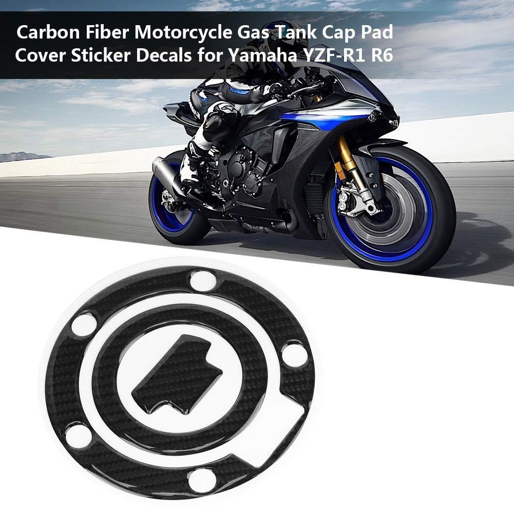 Serbatoio Pad 1 PC di Carbonio Moto serbatoio del gas Cap Pad Cover Sticker Decalcomanie per Yamaha YZF-R1 R6.