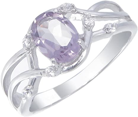925 FINE STERLING SILVER ROUND CUT AMETHYST RING GIFT-PACKAGING AVAILABLE