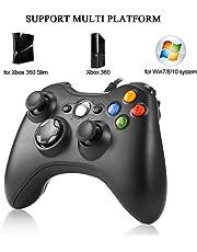 Xbox 360 Controllore Gamepad Joystick Game Controller Gamepad con vibrazione per PC Windows XP / 7/8/1 Black Remote