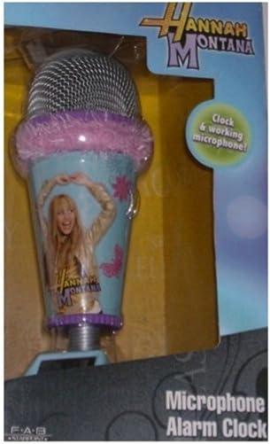 Disney Hannah Montana Microphone Alarm Clock Real Working Mic Pink Fur Trim