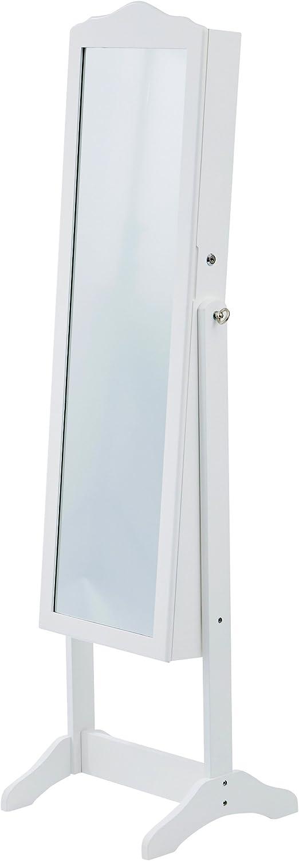 LEVIVO Premium Armadietto Portagioie Legno 48x41x150 cm Bianco