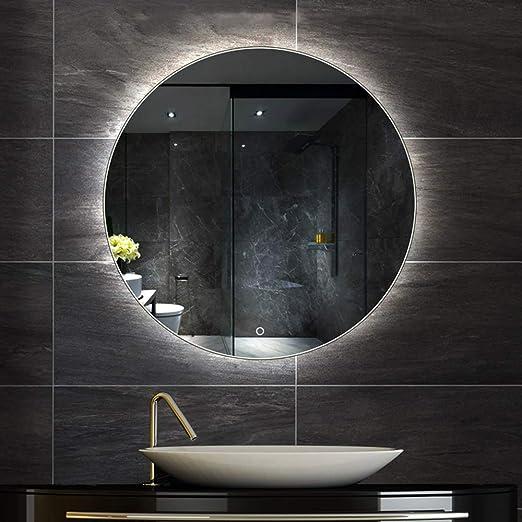 Led Badezimmerspiegel Großer Runder Spiegel