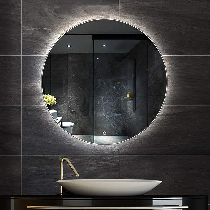 LONDON Illuminated Led bathroom mirror SwitchesMake-upDemister pad