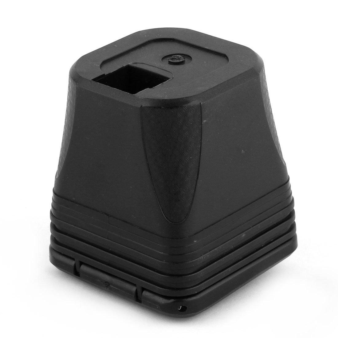 sourcingmap/® Forma quadrata LED blu senza fumo luce Posacenere portabicchieri nero per auto