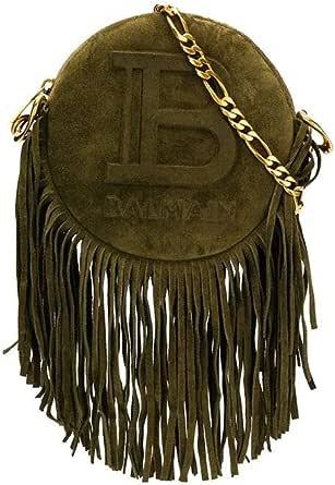 Luxury Fashion | Balmain Womens TN1S423LLCH7UA Green Shoulder Bag | Spring Summer 20