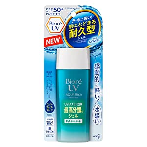 Biore UV Aqua Rich Watery Gel SPF50+ PA++++ Ultra Light 2017 version 90ml