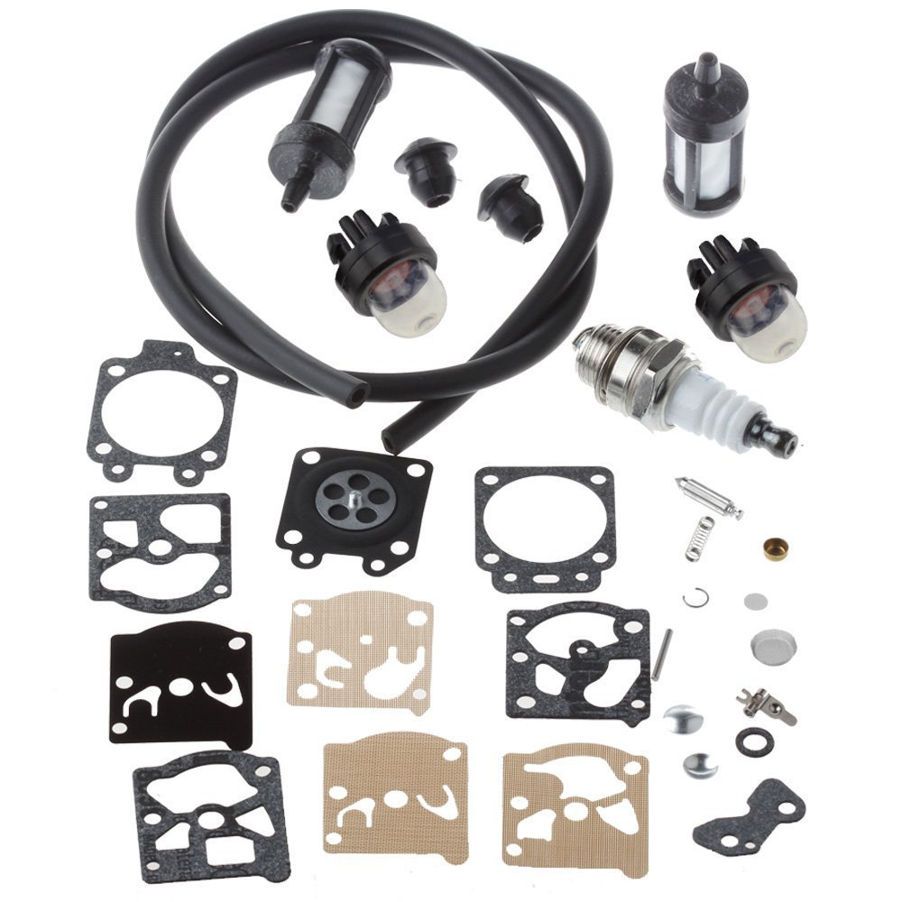 HIPA Carburetor Repair Kit with Primer Bulb Fuel Line Filter for STIHL FS36 FS40 FS44 FS44R String Trimmer