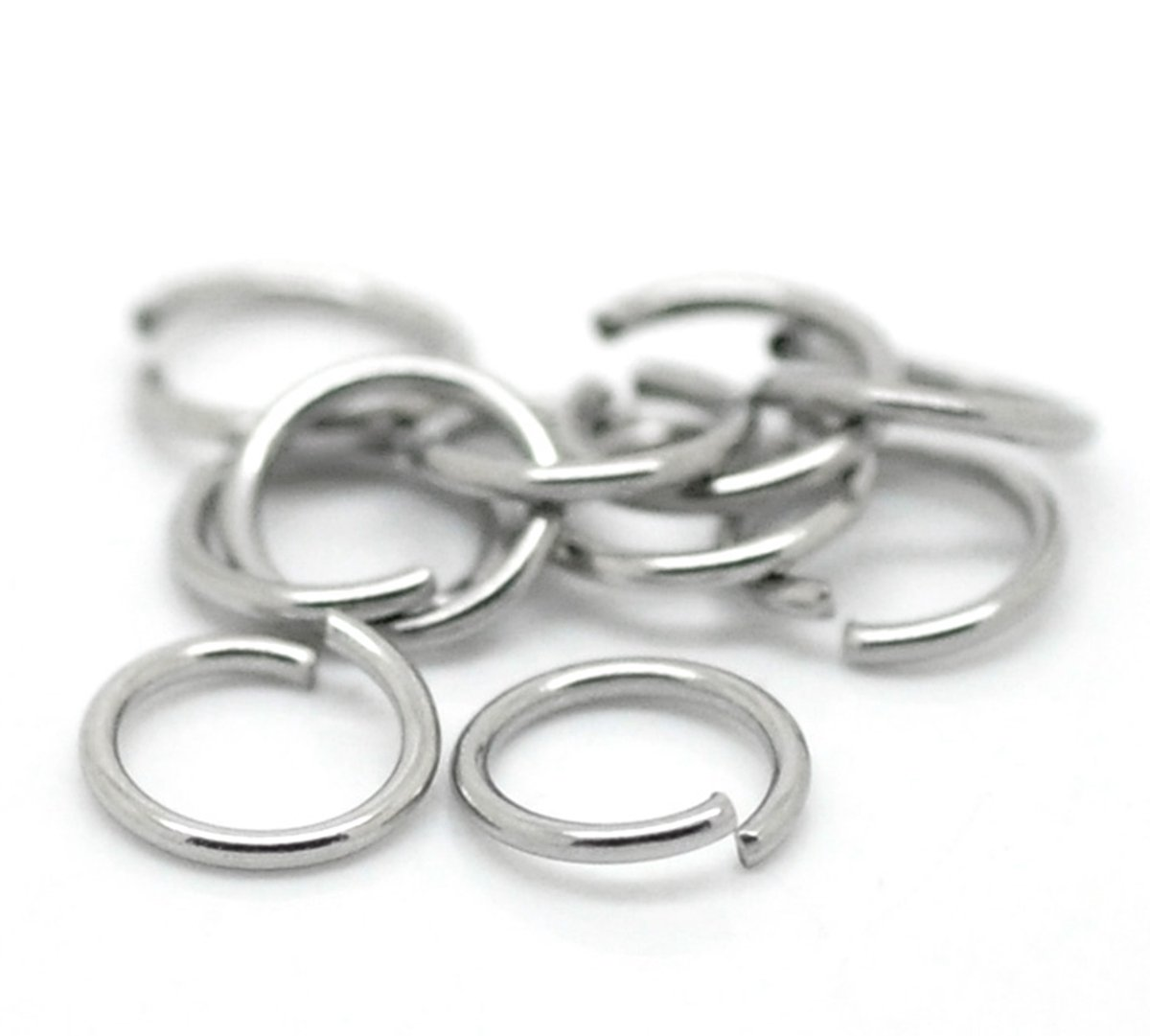 HooAIM 1000 pcs Anneaux de Jonction en Acier inoxydable Ouvert Accessoires de bijoux pour DIY Création de BIjoux